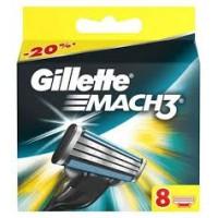 Gillette Mach3  - Skūšanās kārtridžu komplekts 8 gab.