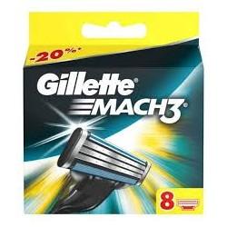 Gillette Mach3 - Skūšanās asmeņu komplekts 8 gab.