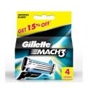 Gillette Mach3 - Skūšanās asmeņu komplekts 4 gab.