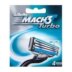 Gillette Mach3 Turbo (4 gab). - Skūšanās kārtridžu komplekts