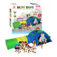 Детская палатка с туннелем+100 шт. мячей
