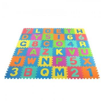 Puzle paklājs burtu ciparu 36gab., 29x29 cm.